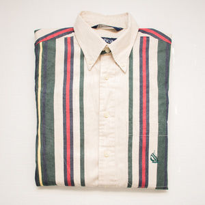 Vintage Nautica Color Block Striped Button Down